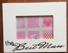 Hot sale wholesale colorful fancy MDF wood photo picture frame for boys