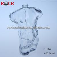 Hot sale sexy man body shaped glass perfume bottle