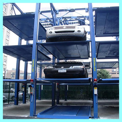 Mutrade 3 levels four post hydraulic stacker parking construction