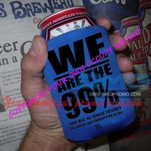 Custom Imprint REAL 3 mm Neoprene Stubby holder Stubbie Can Coolers Foldable Can Cooler Flat Cozy Beer Coolies Bottle Holder