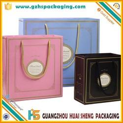 Guangzhou manufacturer custom bottom block shopping paper bag for shoppers