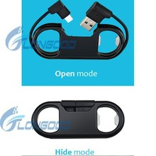 High Quality Micro Usb Data Cable Keychain Usb Charger Bottle Opener For iPhone 5/6