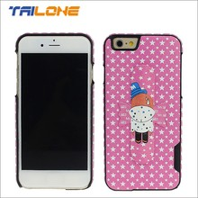 Cute design handfree view phone cover case for iphone 6 case pink
