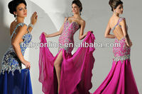 Ro2257 Sexy Style One-Shoulder Heavy Beadings Sexy Ladies Red Prom Dresses Custom Made
