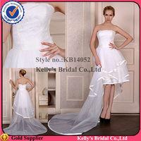 KB14052 front short and long back wedding dress