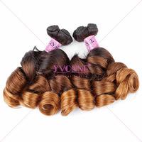 Wholesale funmi hair spring curl two tone braiding hair
