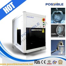 Popularity Possible brand mini 3d laser engraver machine for glass photo