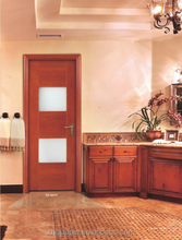contemporary wooden glazed panel doors