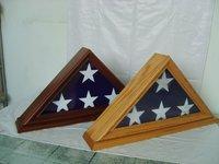 Makey Golden Supplier American Wood Flag Case