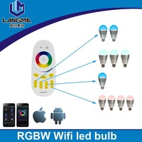 Langma 85-265V Milight 2.4G Wireless E27 RGBW RGB+COOL WHITE RGB/WW RGB+WARM WHITE 9W LED Light Dimmable Bulb Lamp