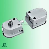 glass door automatic bolt lock with round knob, plug lock, latch lock