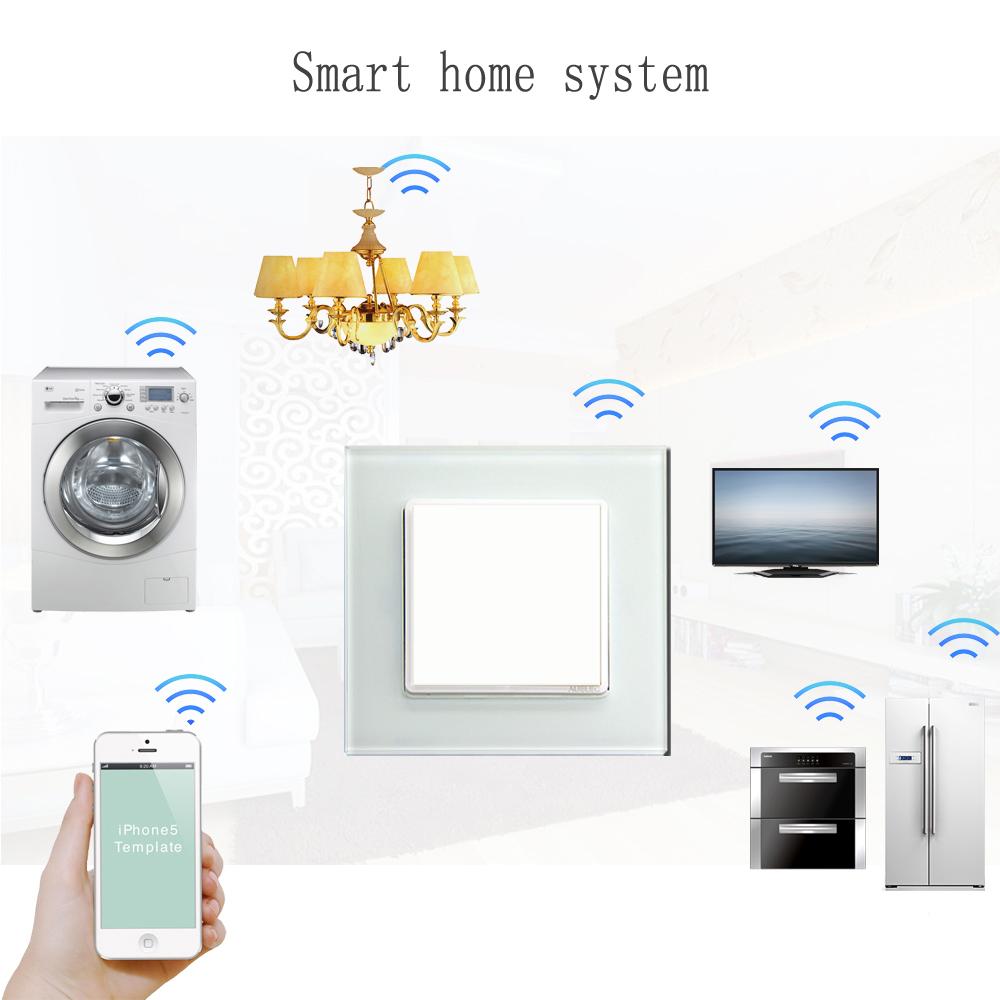 smart wireless touch elektrischer schalter wand. Black Bedroom Furniture Sets. Home Design Ideas