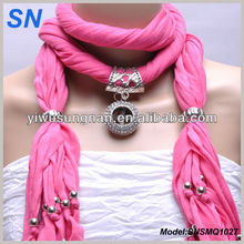 Cross Pendant Charm Jewelry Slide scarf