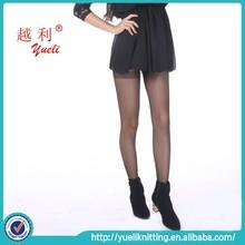 2015 Hot sale sexy black transparent silk stockings