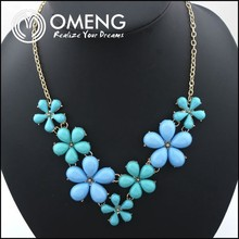 Spring And Summer Alloy Neclace Crystal Flower Necklace Luxury Decorative Necklace