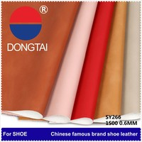 0.6mm soft Embossed pu leather/wholesale 2015 100% High Quality synthetic pu leather/With 20 years expenience shoes leather