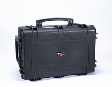 Equipment hard transport case for sensitive, optical, photographic and digital devices.