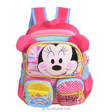 Minnie mouse bolso de escuela para las muchachas de los niños de la escuela de la taleguilla /