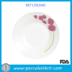 Small Pure and Fresh Salad Plate with Plum Blossom Printed