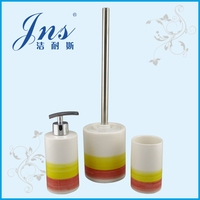 Red and yellow colorful ceramic design bathroom accessories