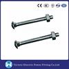 High Quality Pole Line Hardware Fastener ANSI Standard HDG Hot Dip Galvanized Carbon Steel Carriage Bolt