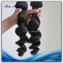 New Style Natural Looking 100% malaysian loose wave virgin hair weaving weft