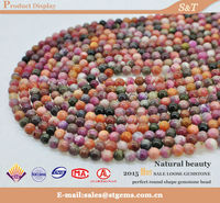 Hot sell natural untreated semi precious gemstone bead Africa tourmaline