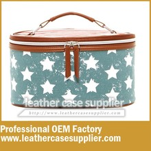 Jean style hard side cosmetic case and box
