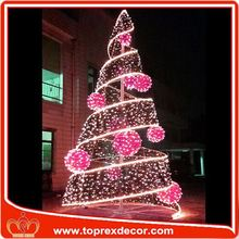 Outdoor christmas tree paper toy