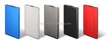 Promotional high quality portable battery charger power bank credit card with memory
