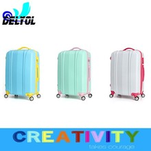 2015 abs printed hardshell built -in men women kids department trolley bag/trolley luggage with 4 universal wheels