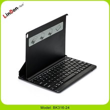 Ultra-thin PU Case Bluetooth Keyboards with Metal Case for iPad air 2