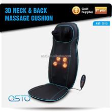 Car Heat, Kneading ,Rolling ,Vibration, Full Back Massage Cushion 6 massager heads AST-001D CE/RoHS