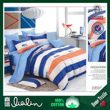Alibaba china reactive print 100%cotton comforter sheet sets with duvet cover flat sheet pillowcase