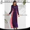 Beautiful fashionable new style women chiffon dress plus size maxi design dresses muslim malaysia dress