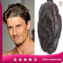 Human Hair Customized Full Handtie Swiss lace Men's Toupee wig for men