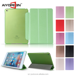 10 Colors Multicolor Soft Silk Texture PU Leather Case Smart Flip Cover for iPad Mini 4 with Auto Wake Up Function