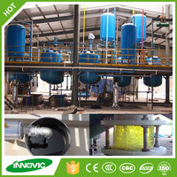 Pyrolysis oil distillation plant to diesel for waste tire rubber plastic recycling machine