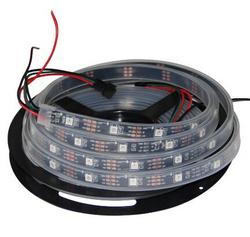 Ws2812b RGB LED Strip Light 150pixels 16.4ft Flex Individually Addressable Dream Color Waterproof Ip67 Black PCB