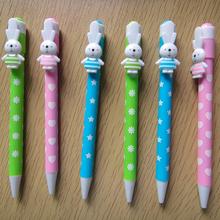 Advertising plastic ball pen for kids,promotional lovely animal ball point pen for girl NN-344
