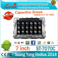 Quad core Android 4.4 For SsangYong RODIUS/REXTON 2014 multimedia/car audio system