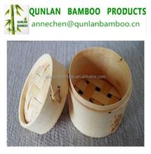 Natural bamboo steamer basket for cooking utensils