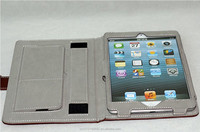 Foldable leather cover leather case for iPad air2