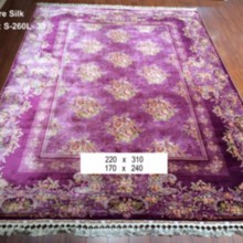 pink purple persian arts and crafts handmade silk tribal area rug