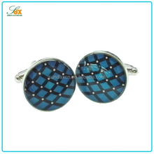Promotional gifts make custom zinc alloy blue men's accessories fashion cufflinks