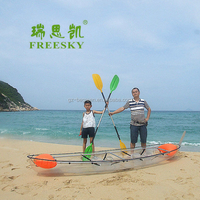Plastic Fishing Kayak ,2 Person Use Clear Ocean Kayak Boat For Sale