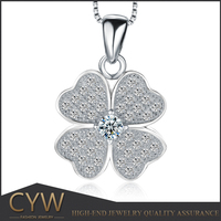CYW Lucky Four Leaf Clover 925 Sterling Silver Pendants With Low Price