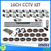 Digital Camera kit gloves to import 16CH CCTV DVR with 800TVL CMOS IR bullet Cameras dvr kit