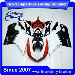 FFKDU004 Motorcycle Fairings For Sale For 848 1098 1198 2007-2012 Red And Black