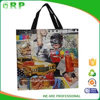 Unique design reusable eco cool pp woven shopping bag